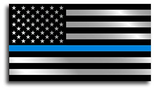 20 Pack of Small YETI Sized Thin Blue Line Police Officer BLM American Flag Vinyl Decal Sticker Car Truck 1.3 x 2.5