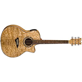 dean exotica quilted ash acoustic electric cutaway guitar with tuner preamp musical. Black Bedroom Furniture Sets. Home Design Ideas