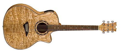 Dean Exotica Quilted Ash Acoustic-Electric Cutaway Guitar with Tuner Preamp