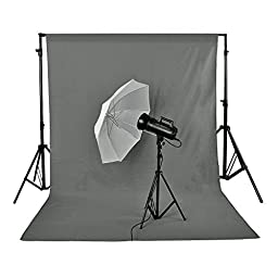 Neewer 3 x 6M/ 10 x 20ft Photo Studio 100% Pure Muslin Collapsible Backdrop Background GREY