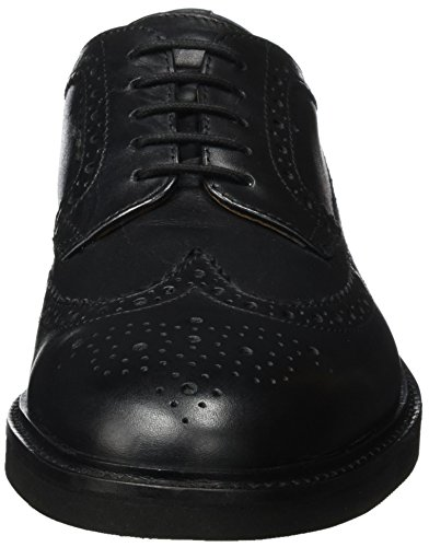 Hudson London Herren Arbor Brogues Schwarz (Black)