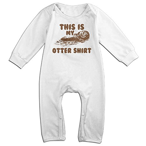 NOXIDN SMWI Baby Infant Romper This Is My Otter Long Sleeve Jumpsuit Costume,White 24 Months (Otter Costume)