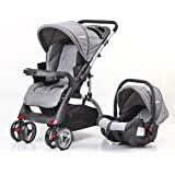 Mamakids Upgraded Baby Lift And Stroller Travel System With Comfy Infant Car Seat, Grey