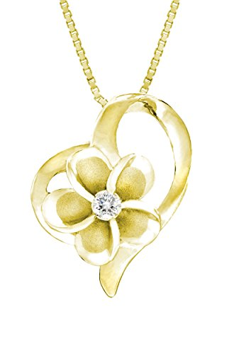 Yellow Plated Sterling Plumeria Necklace