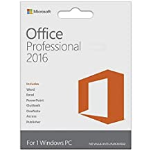 Microsoft Office Professional 2016 1 PC (Lifetime Download)