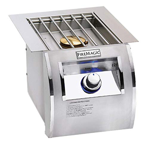Fire Magic Echelon Diamond Single Side Burner with Stainless Steel Grid - Propane