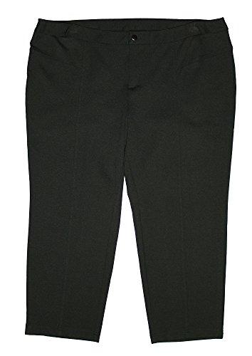 行く留まる等価INCレディースプラスTapered Straight Leg Casual Ponte Knit Pants 24 W小柄ブラック