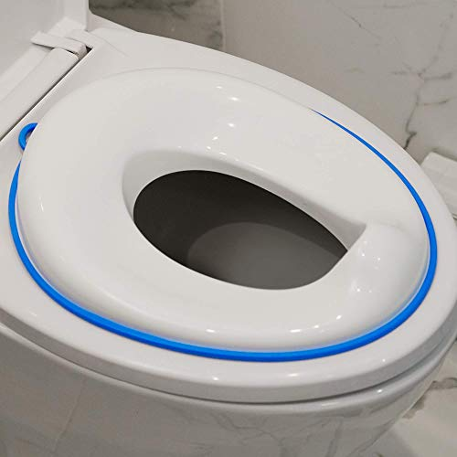 (Magic Baby Potty Training Seat for Oval and Round Toilets | Easy Clean | Splash Guard | Wall Hanging Hook | Compact Storage Design | Suits Boys and Girls)