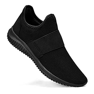 Troadlop Mens Shoes Mesh Breathable Lightweight Knit Athletic Running Walking Gym Tennis Shoes Black Size: 7