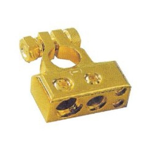Absolute BTG300P 1 Guage/1x4 Guage/2x8 Guage Output Positive Gold Battery Terminal (Gold Car Battery Terminals)