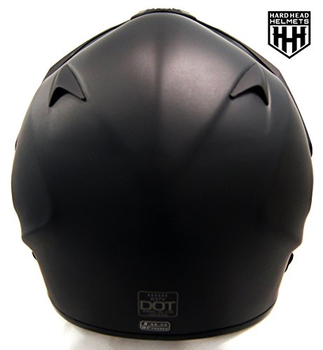 SmartDealsNow - HHH DOT ADULT Helmet for Dirtbike ATV Motocross MX Offroad Motorcyle Street bike Snowmobile HELMET with VISOR (X-Large, Matte Black)