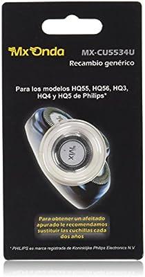 MX Onda MX-CU5534U Cabezal de Afeitado Genérico Compatible con HQ55, HQ56, HQ3, HQ4 y HQ5 (1 Unidad): Amazon.es: Belleza