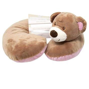 Amazon.com: Cojín para el cuello con diseño de oso rosa ...