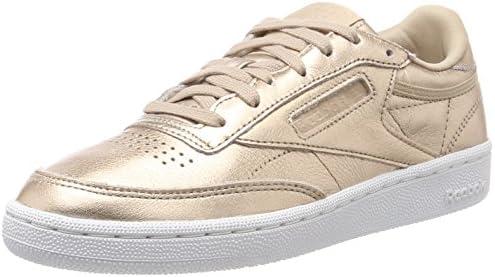 45f67b6df1a2 Reebok Women s Club C 85 Melted Metal Pearl Met-Peach White Sneakers ...