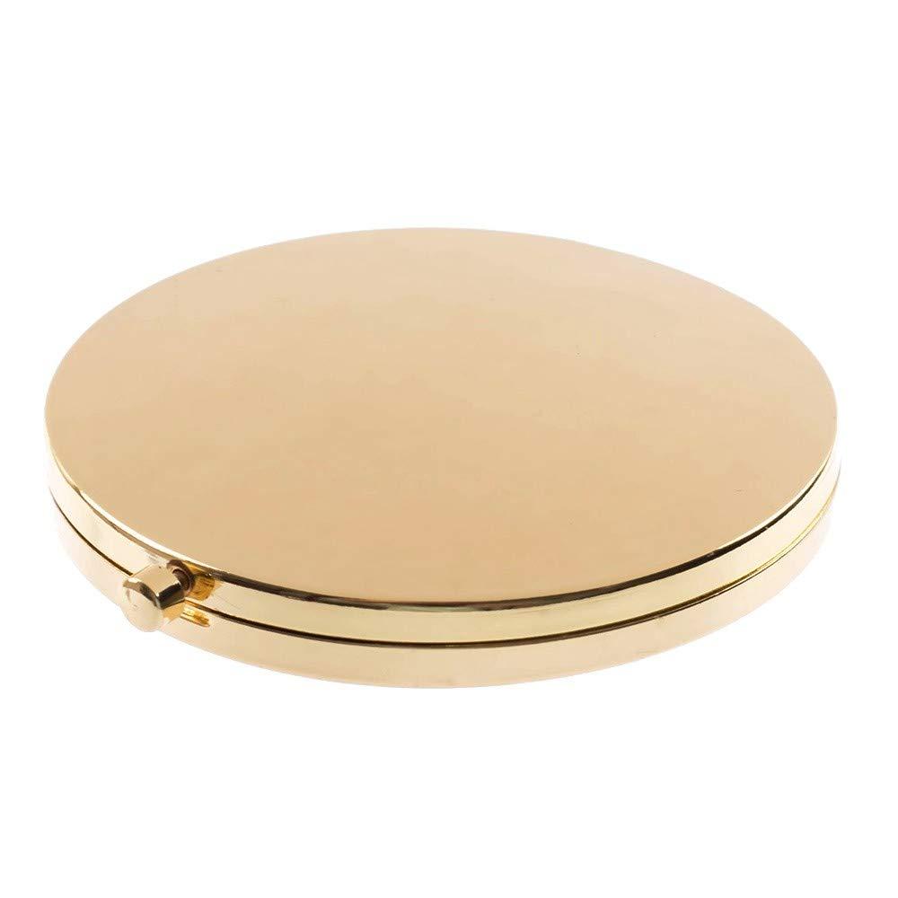DFGJ Specchietto Retrovisore Portatile Mini Compatto In Acciaio Inossidabile Per Trucco Cosmetico Specchietto Tascabile Per Strumenti Di Trucco (3)