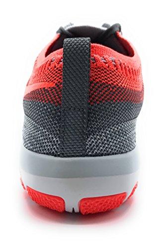Nike W Free Tr Focus Flyknit, Zapatillas de Senderismo Unisex Adulto Pure Platinum/Total Crimson navy pink / DARK OBSIDIAN/FLINT GREY