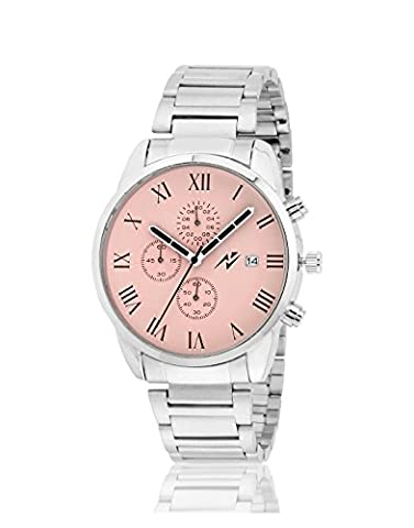 Yepme Men's Chronograph Watch - Pink/Silver ( EAN : 8907309072863 ) (Pink Tag Watch)