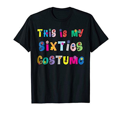 Sixties 60s 1960s retro T Shirt Costumes for women men ()