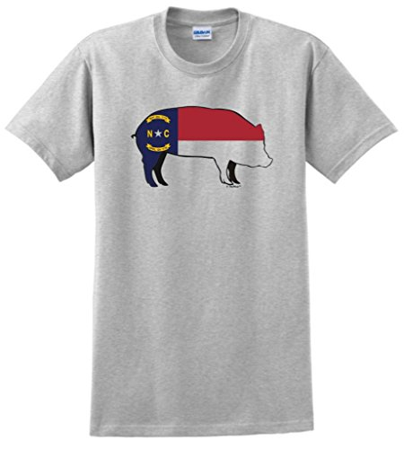 North Carolina BBQ Barbeque Capital T-Shirt Large Ash