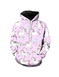 TIMMIYA Girls' Cute Galaxy Unicorn Rainbow Mermaid Hoodie