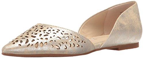 Bc Footwear Flats (BC Footwear Women's Take Me Away Pointed Toe Flat, Silver, 7.5 M US)