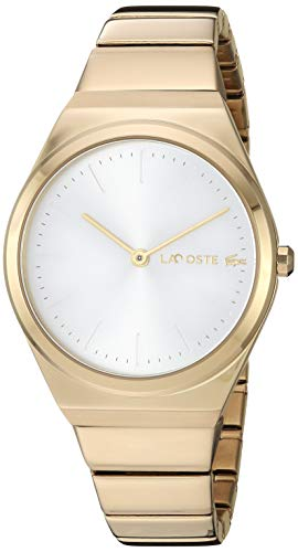 Lacoste Women's Mia Quartz Watch with Stainless-Steel Strap, Yellow, 14.5 (Model: 2001056) (Watch Wrist Yellow Stainless Steel)