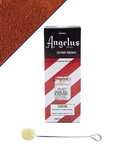 Angelus Brand Suede & Nubuck Dye & Dressing w/Applicator - 3 oz, Rust