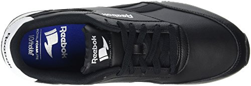 Reebok Men's Royal Cl Jog 2l Running Shoes, Black Black (Black/White/Flat Grey Black/White/Flat Grey)