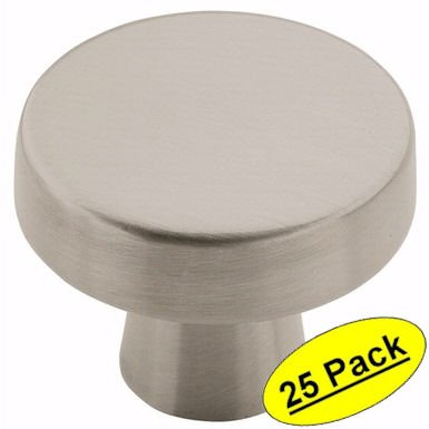 Amerock BP55270-G10 Blackrock Satin Nickel Round Cabinet Hardware Knob, 1.33 Inch Diameter - 25 Pack