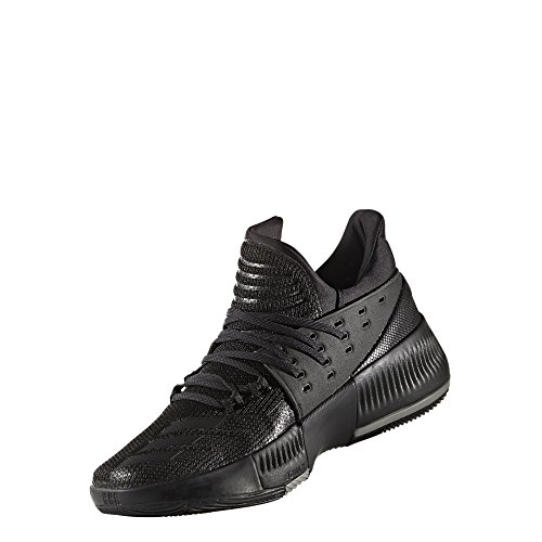 adidas Dame 3 Shoe Mens Basketball 13 Core Black-Core Black-Solid Grey (D Lillard 2 Rip City For Sale)