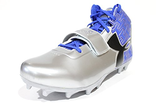 3f2ae39cc99b low-cost Under Armour Men s C1N Mid MC Blue Silver Football Cleats 1270237-