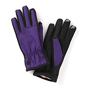 Isotoner Smart Touch 2.0 Womens Purple Matrix Tech Gloves for Texting Ultraplush
