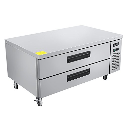 Commercial 2 Drawer Refrigerated Chef Base - KITMA 48 Inches Stainless Steel Chef Base Work Table Refrigerator - Kitchen Equipment Stand, 33 °F - ()