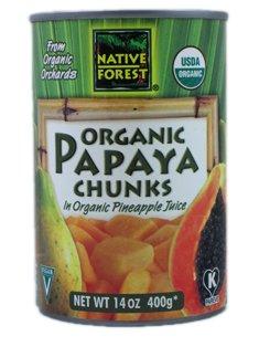 Native Forest Organic Papaya Chunks -- 14 oz