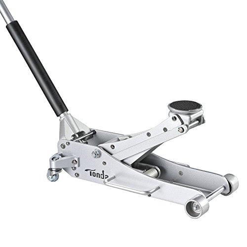 TONDA Aluminum 2.5 TON Trolley Low Profile Floor Jack, Rapid Pump Quick Lift
