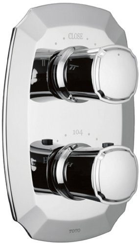 UPC 739268046191, Toto TS970C#CP Guinevere Thermostatic Mixing Valve with One-Way Volume Control, Polished Chrome