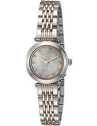 Bulova Womens Quartz Stainless Steel Dress Watch (Model: 98P156)