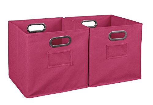 Niche Set of 2 Cubo Foldable Fabric Bins- Pink