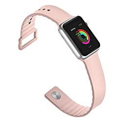 For Apple Watch Band! Jyhoo Silicone Soft Replacement Bands For 38mm 42mm Watch Band For Apple Watch Series 2, Series 1 (38mm Pink)