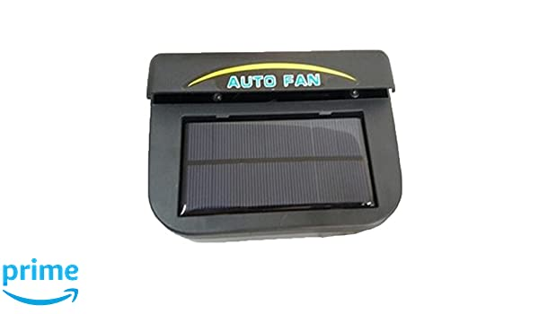 1W Solar Power Car Solar Fan Ventilation Radiator Exhaust Cooler Auto Fan Vent 6