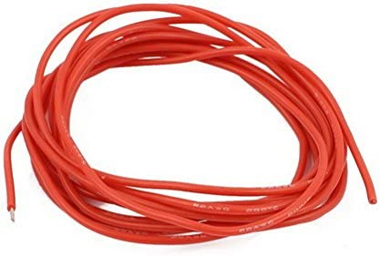 6Ft 22AWG Red Gauge Flexible Stranded Copper Cable Silicone Wire for RC by Uptell