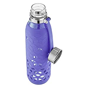Contigo Purity Glass Water Bottle, 20 oz. with Petal Sleeve, Grapevine,