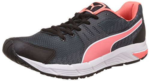 Puma Women's Sequencev2Wn'sDP Black, Fluo Peach, Periscope and Quarry Running...