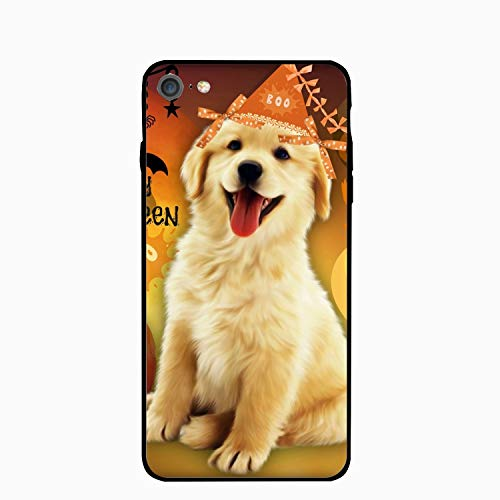 Cute Halloween Puppy Case for iPhone 8 and iPhone 7, 4.7-Inch, Shock-Absorption Bumper Cover, Anti-Scratch Clear Back -
