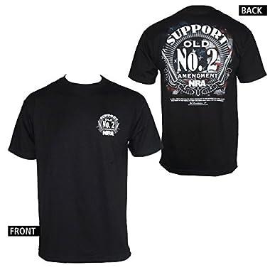 NRA Support Old No. 2 Amendment Men's Black T-shirt