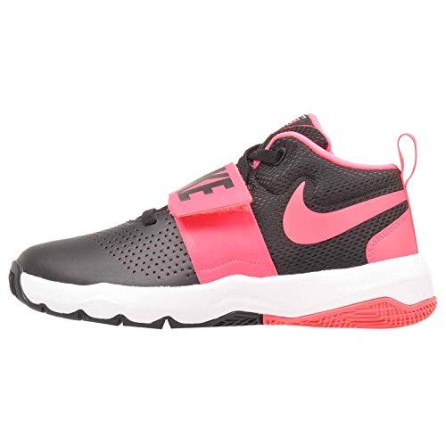 NIKE Team Hustle D 8 (GS) Sneaker, Black/Racer Pink-White, 5Y Regular US  Big Kid