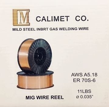 Calimetco ER70S-6 Welding Wire 11LB 0.035'', via USPS Priority, Order Over $49 No Shipping - Fee Usps Shipping