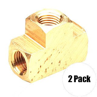 Manifold Tee - Coilhose T004-Dl 2 Pk 1/4 Inch Fpt Brass Tee Manifold