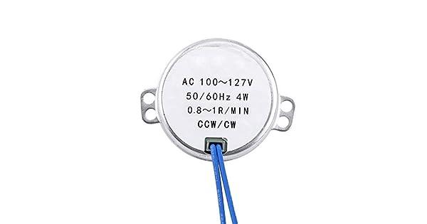 0.8-1RPM Motor s/íncrono 60Hz AC 100-127V 4W CCW//CW Motorreductor para ventilador el/éctrico Mecanismo de ventilaci/ón Artesan/ía motor s/íncrono s/íncrono Motor giratorio Motor el/éctrico 50