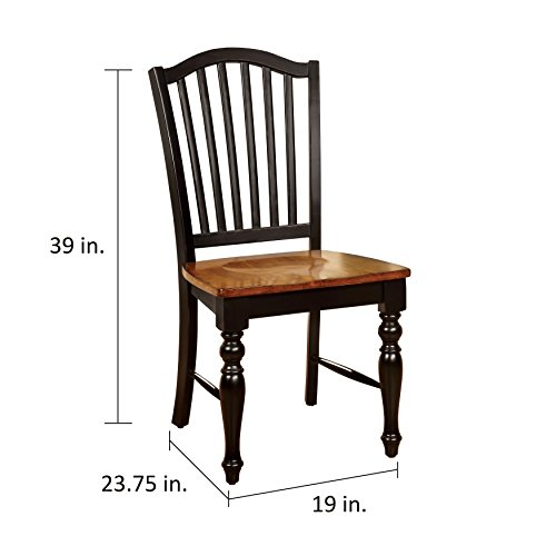 Country Rush Seat - Svitlife Bedgebury Two-tone Country Style Dining Chair (Set of 2) Style Chairs Dining Country French Set Side Antique Rush Back Seats Carved